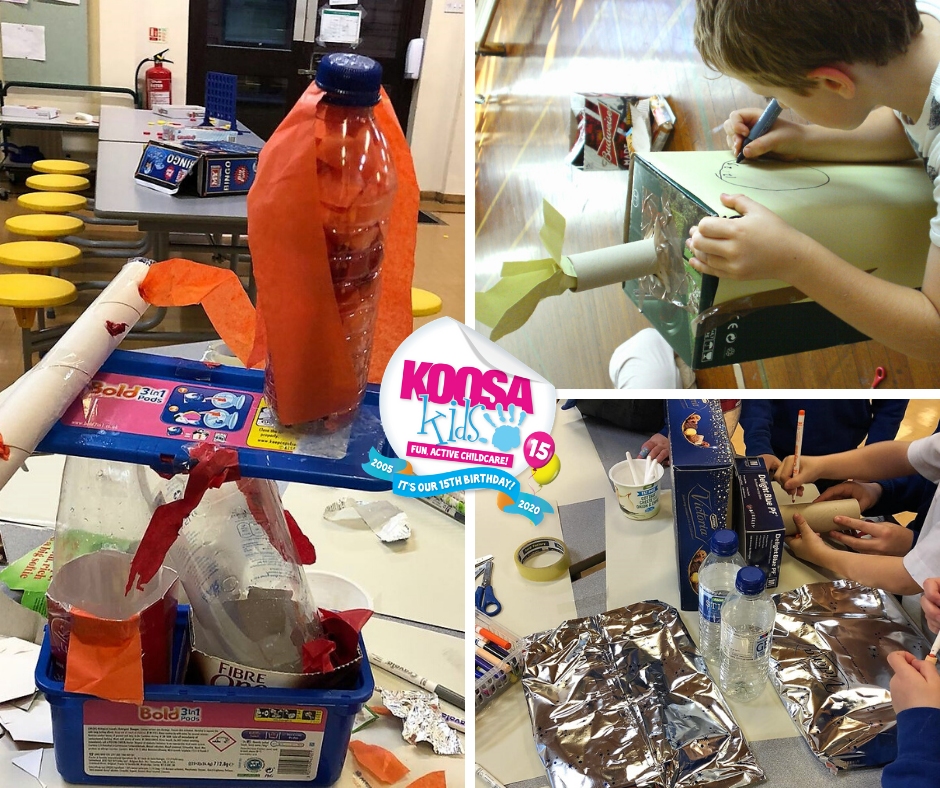 KOOSA Kids fun & exciting activities at home. Try Junk Modelling today.
