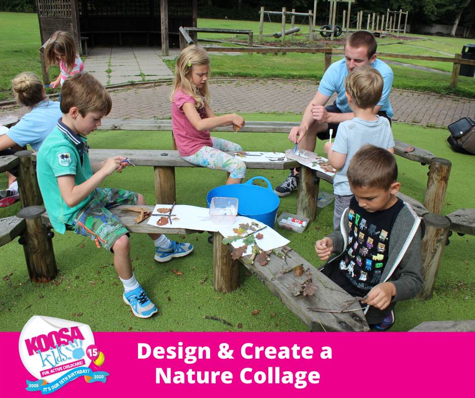 Design & create a Nature Collage just like at KOOSA Kids after school clubs and holiday clubs!!