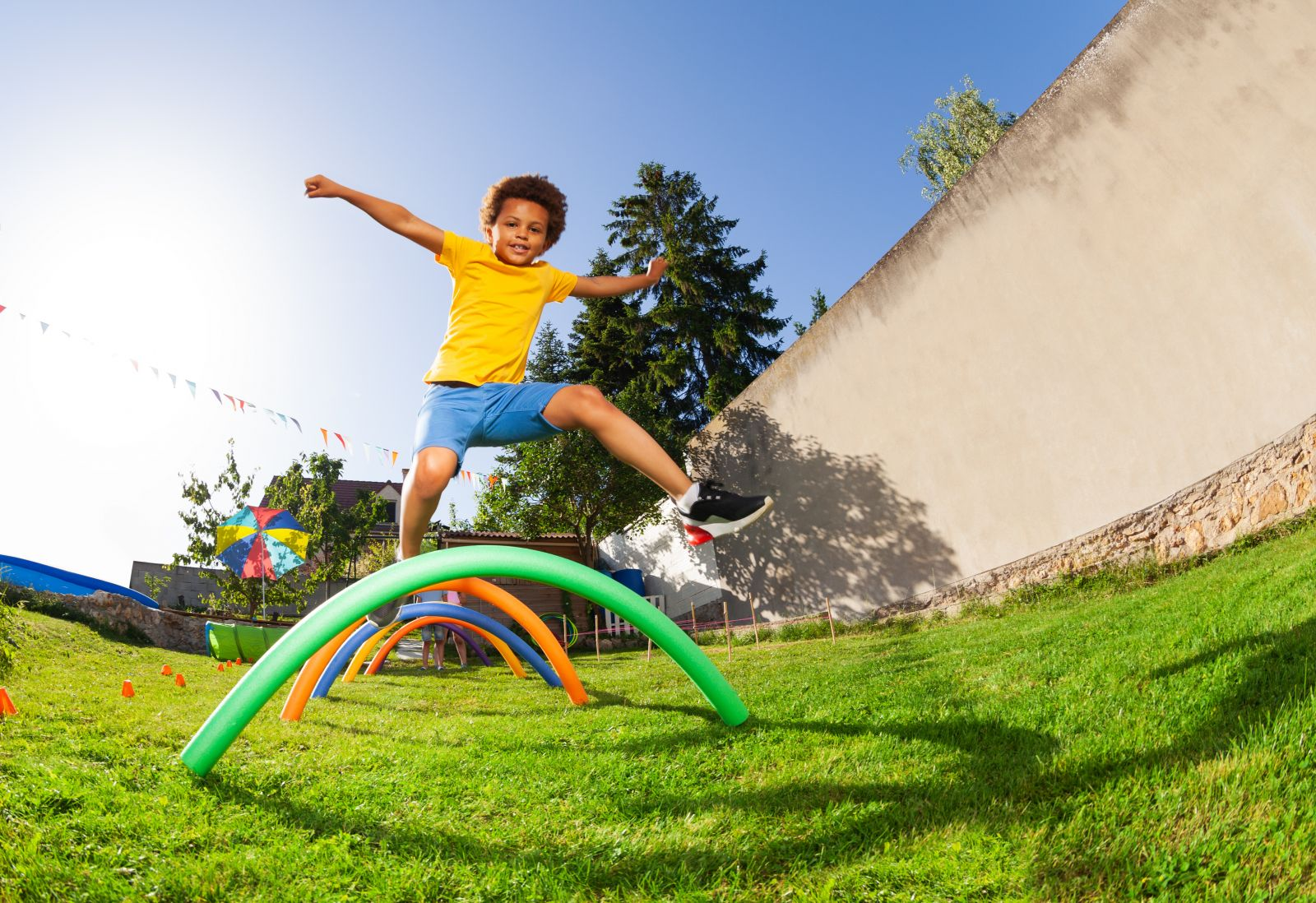 KOOSA Kids Relay Rallies Obstacle Challenge. Build your own obstacle course at home!