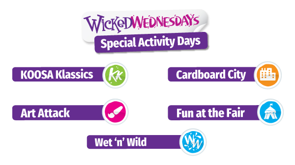 Wicked Wednesdays Special Activity Days at KOOSA Kids Summer Holiday Clubs across Berkshire, Hampshire, Richmond & Surrey.