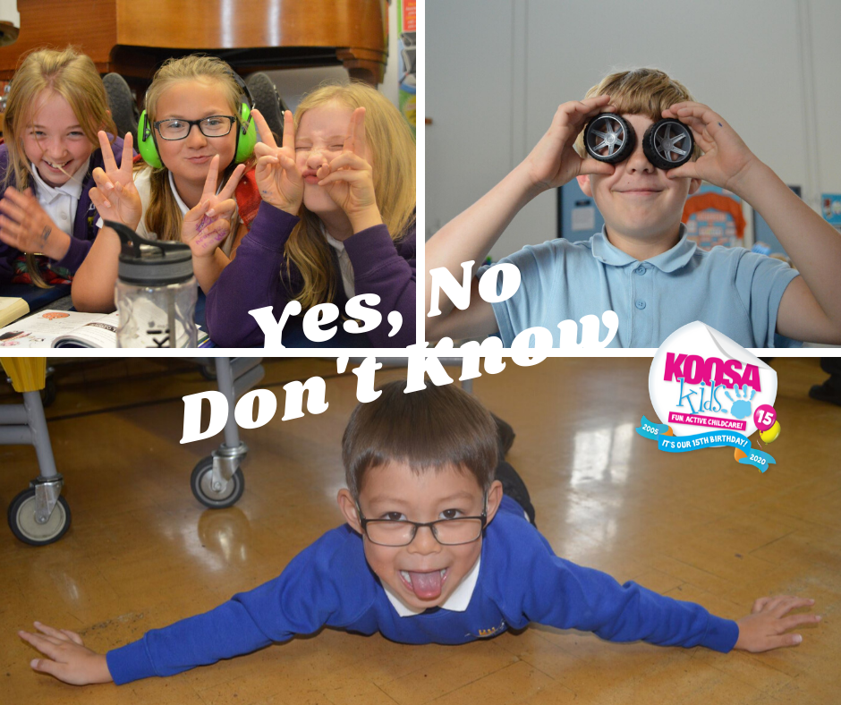 Yes, No, Don't Know - Try this KOOSA Kids holiday club favourite at home. Who is the best in your family?
