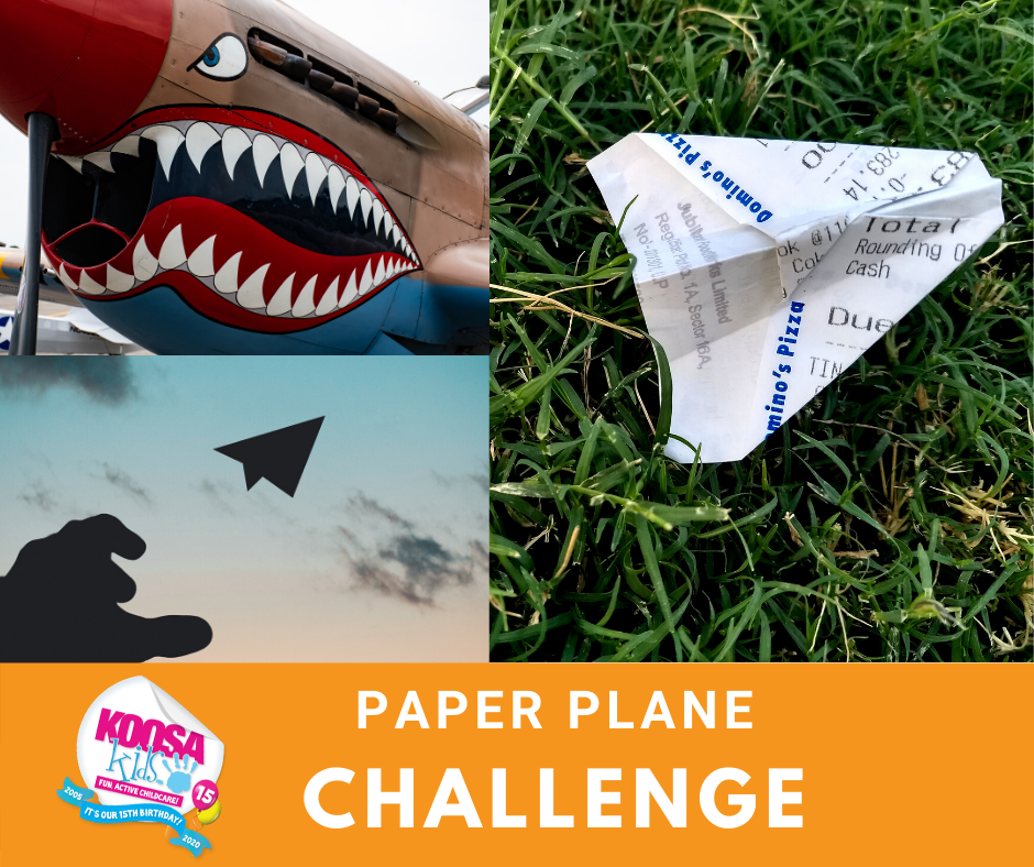 KOOSA Kids Paper Plane Challenge - All the fun of KOOSA Kids after school club or holiday club at home!