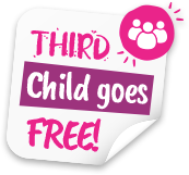 Your Third Child goes FREE! KOOSA Kids - Exceptional Value, Outstanding Quality Childcare Services.