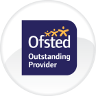 Ofsted Outstanding Logo in Circular Badge
