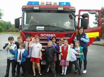 Meeting the local Fire Brigade Crew at one of KOOSA Kids Special Activities!